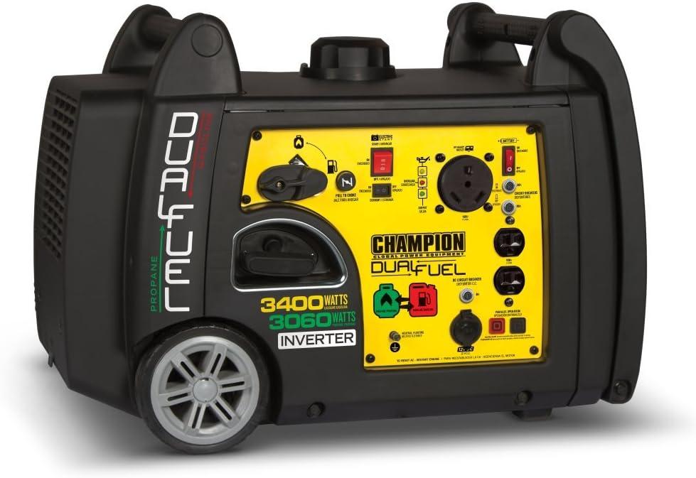 Champion 3400-Watt Dual Fuel RV Ready Portable Inverter Generator