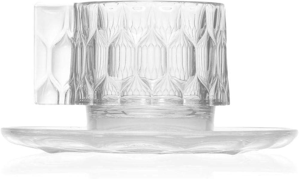 Kartell jellies family, tazzina da caffè,in tecnopolimero termoplastico trasparente o colorato in massa 01582B4