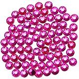 1500 Stück Hotfix-Glas-Strasssteine mit flacher Rückseite, Hotfix, runde Kristall-Edelsteine (Rose...