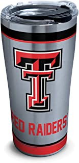 Tervis 1297973 Texas Tech Red Raiders Tradition Insulated Tumbler with Clear and Black Hammer Lid, 20 oz Stainless Steel, Silver