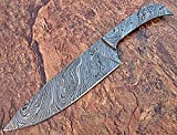 BBC-658, Handmade Damascus 12 Inches Blank Blade with...