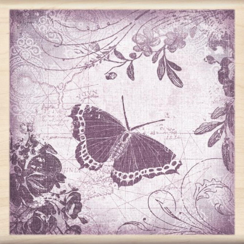 Inkadinkado Wood Stamp, Butterfly Collage