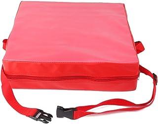 Autumne Cojin Elevador de Silla ninos Asientos de Almuerzo portatil de Piel Sintetica de ninos Rojo