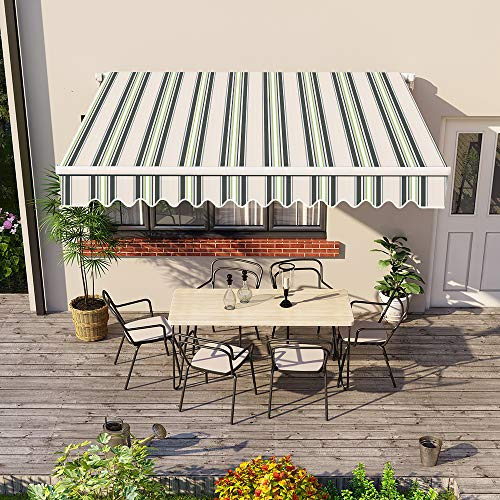 Greenbay Patio Retractable Manual Awning which is our best pick