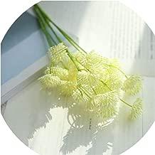 1pc 27 Heads Dandelion Flower Artificial Silk Fake Flowers Dandelion Floral Wedding Bouquet Hydrangea Decor Home Decor,White