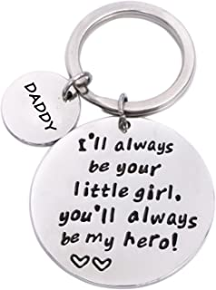 Keychain Gifts for Daddy Father - Daddy Gift Idea from Wife Daughter Son Kids, Stainless Steel, with Gift Box, Christmas B...