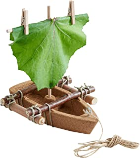 HABA Terra Kids Cork Boat - Easy to Assemble and Upgrade with Materials Found in Nature - DIY Fun for Young and Old