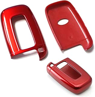 iJDMTOY (1) Exact Fit Gloss Metallic Red Smart Remote Key Fob Shell Compatible With Hyundai Veloster Sonata Elantra Genesi...
