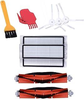 SODIAL Accessories Kit for XIAOMI MI Robot Vacuum Replacement Parts 3 PCS Side Brush 3 Pcs HEPA Filter 2 Pcs Main Brush 1P...