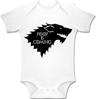 'Poop is Coming' Game of Thrones - Baby Bodys/śpioszki Romper Onesie Unisex 100% bawełna (0-24 miesięcy)