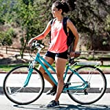 sixthreezero Pave N' Trail Women's Hybrid Road Bicycle w/Rear Rack, 26' Wheels/ 17' Frame