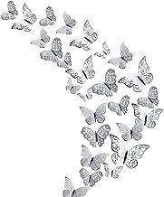 48 Stks Vlinder Decoraties, Creatiees 3D Muurstickers |Metallic Art Sticker, DIY/Handgemaakt/Verwijderbaar/Drukbestendighe...