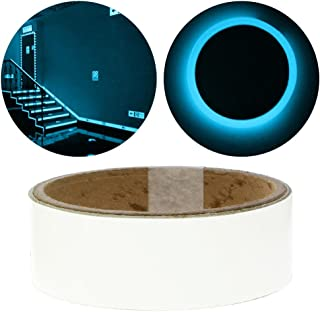 Niome Glow in the Dark Tape - Luminous Stickers Waterproof Masking, Gaffer and Emergency Use Tape Blue