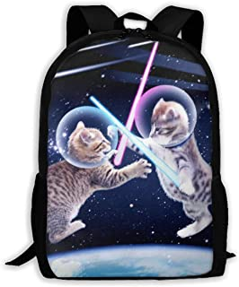 Comfortable School Bookbag Backpack Star Wars Between Cat Adjustable Shoulder Straps Laptop Daypack for School/Office/Library/Shopping/Climbing/Yoga/Beach