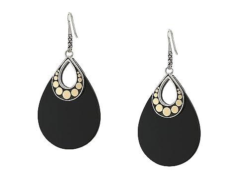 John Hardy Dot French Wire Earrings w/ Black Onyx BG