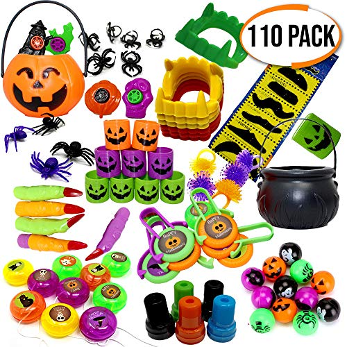 THE TWIDDLERS Set de 110 Juguetes de Fiesta de Halloween Sorpresas - Piñatas - Halloween Juguetes - Fiesta Regalos Bolsas - Trick or Treat Favores
