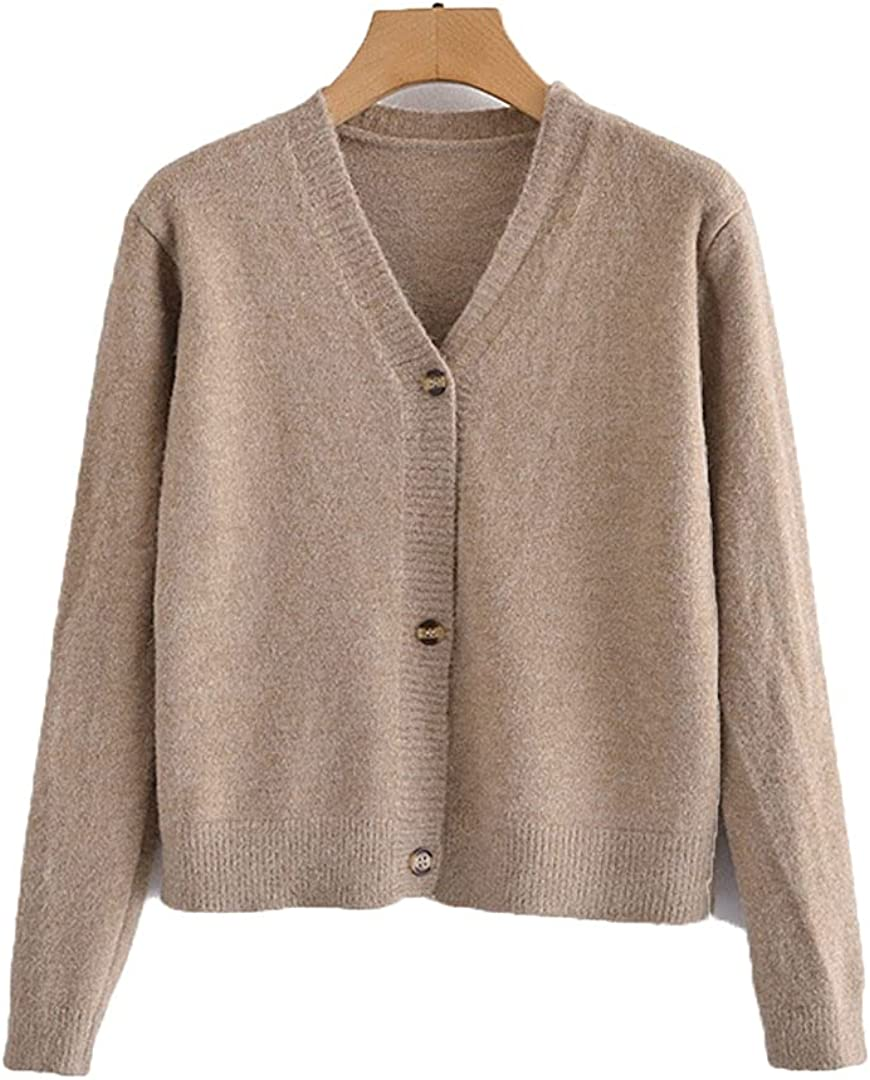 GHURFNP Women Classic Khaki Knitted Large-scale sale Sweater Long Jumper Cardigan Long Beach Mall