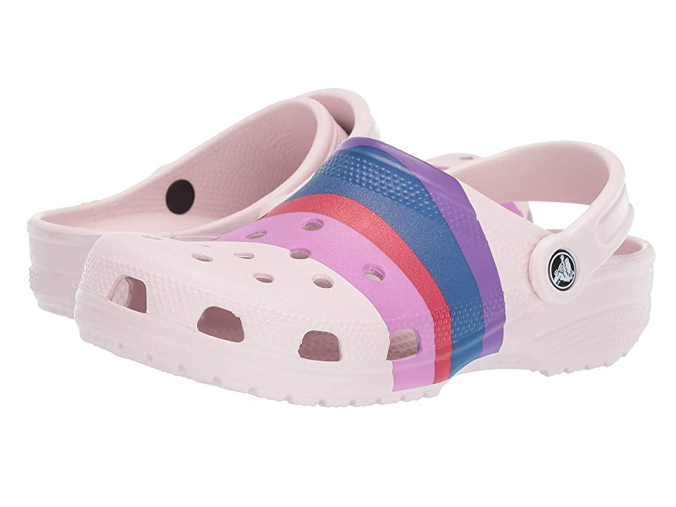 Crocs Classic Seasonal Graphic Clog (Barely Pink/Multi) Clog/Mule Shoes