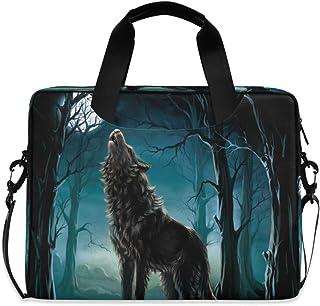 AUUXVA Laptop Bag Case 13 14 15.6 inch Wolf Laptop Briefcase Messenger Bag Computer Case Shoulder Bag Tablet Sleeve for Bu...