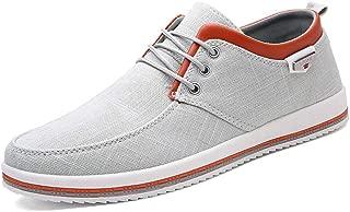 MAIZUN Mens Canvas Skate Shoes Casual Lace-Up Fashion Sneaker Soft Non-Slip Comfortable Street Shoe
