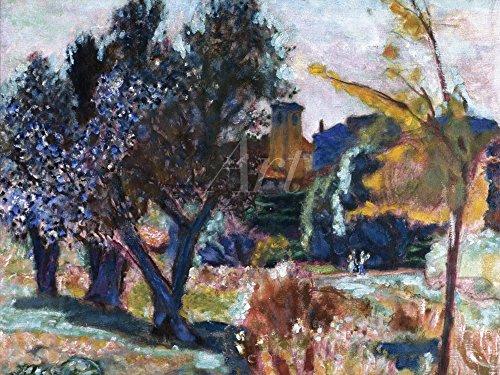 Artland Alte Meister selbstklebendes Premium Wandbild Pierre Bonnard Bilder 30 x 40 cm Landschaft mit Olivenbäumen Kunstdruck Wandtattoo Impressionismus C2RT