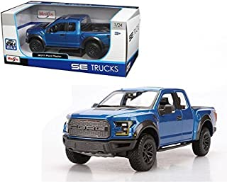 Maisto New 1:24 W/B Special Trucks Edition - Blue 2017 Ford Raptor Diecast Model Car