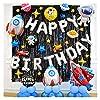 バルーン スペースパーティーキット宇宙飛行士ロケットパーティーアースソーラープラネットテーマシルバーお誕生日おめでとうございます文字バルーン装飾 (Color : As picture)