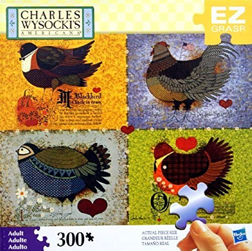 CHARLES WYSOCKI's AMERICANA PUZZLE Featherot Friends 300 Piece MADE IN USA PUZZLE by CHARLES WYSOCKI's AMERICANA PUZZLE