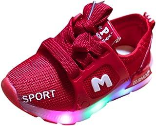 comprar comparacion Riou Zapatos LED Niños Niñas 7 Color Zapatillas Deportivas Unisex Zapatillas de Correr Transpirables Antideslizante Zapati...