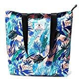 Original Floral Tote Bag Shoulder Bag for Gym Hiking Picnic...