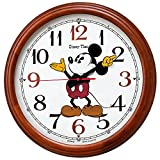 セイコー クロック 掛け時計 ミッキーマウス 電波 アナログ 大型 木枠 Disney Time ディズニータイム 茶木地 FW582B SEIKO
