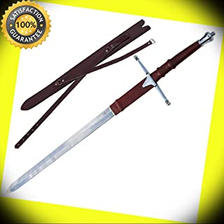 BRAVEHEART Scottish Hero William Wallace Claymore Polished Stainless Steel Sword perfect for cosplay outdoor camping