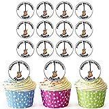 Guitare électrique 24personnalisé comestible pour cupcakes/décorations de gâteau d'anniversaire–Facile prédécoupée + Cercles