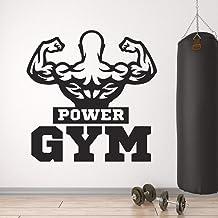 JXWH Muscle Man Strong Body Dumbbbell Bodybuilding Fitness muursticker van vinyl bodybuilding club fitnessstudio decoratie...