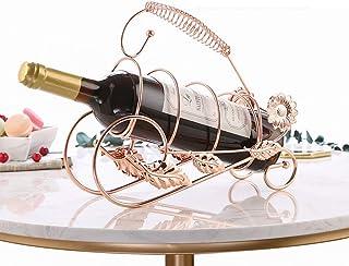 FCXBQ Petit Porte-Bouteilles de casier à vin de comptoir de Bouteille Simple, Support d'affichage de casier à vin dans l'é...