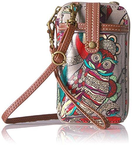 Sakroots Artist Circle Smartphone Wristlet, Charcoal Spirit Desert
