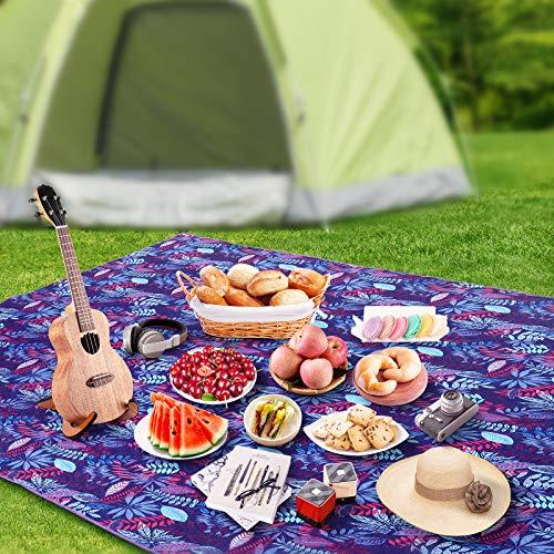 Picknickdecke wasserdichte 145 x 200 cm Outdoor Campingdecke Stranddecke wasserdichte Outdoordecke Fleece Sandfrei mit Tragetasche Ideal für Ground Sheet, Pocket Blanket, Taschendecke, Campingdecke