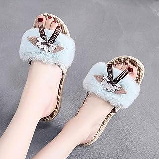 ZUOX Été Anti-Dérapage Pantoufle,Sandales et Pantoufles imperméables à Plateforme, Chaussures à Bout Ouvert,Tongs Mixte Ad...