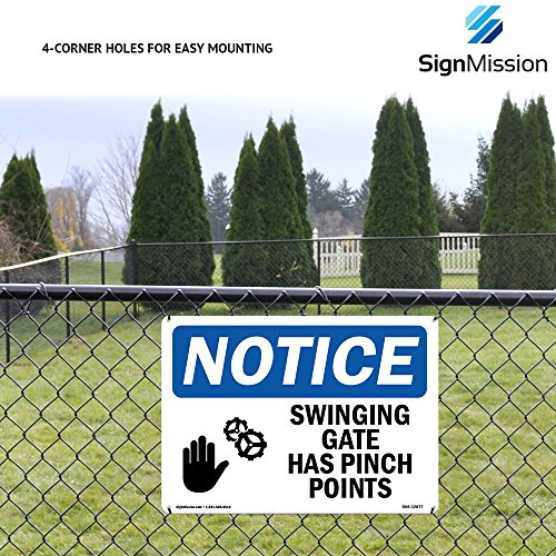 OSHA Notice Sign - No Entry Without Permission | Rigid Plastic Sign | Protect Your Business, Construction Site, Warehouse & Shop Area | Made in The USA Photo #5