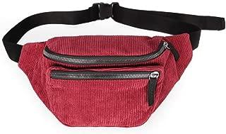 YWSCXMY-AU Fashion Women's Waist Bags Travel Money Fanny Pack for Women gilrs Waist Packs Black Belt Chest Bag (Color : Red)
