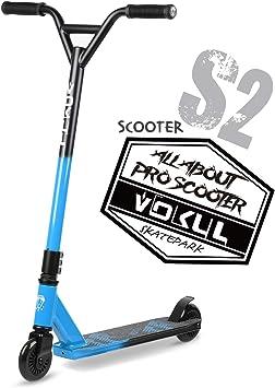 VOKUL Patinete TRII S2 Pro Stunt Scooter – Freestyle Tricks – Patinete con ruedas de 100 mm – con manillar Chromoly giratorio 360 grados para niños y ...