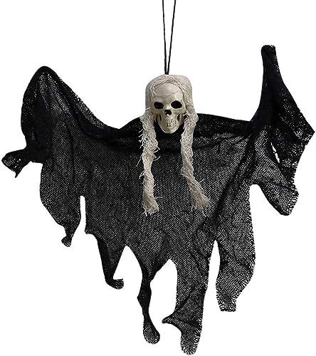 2021 Saitingdianzi Hanging Grim Reaper, Skeleton Ghost in Horror Robe, Halloween Hanging Decorations, Hanging Ghost House Decor wholesale popular (Black) sale