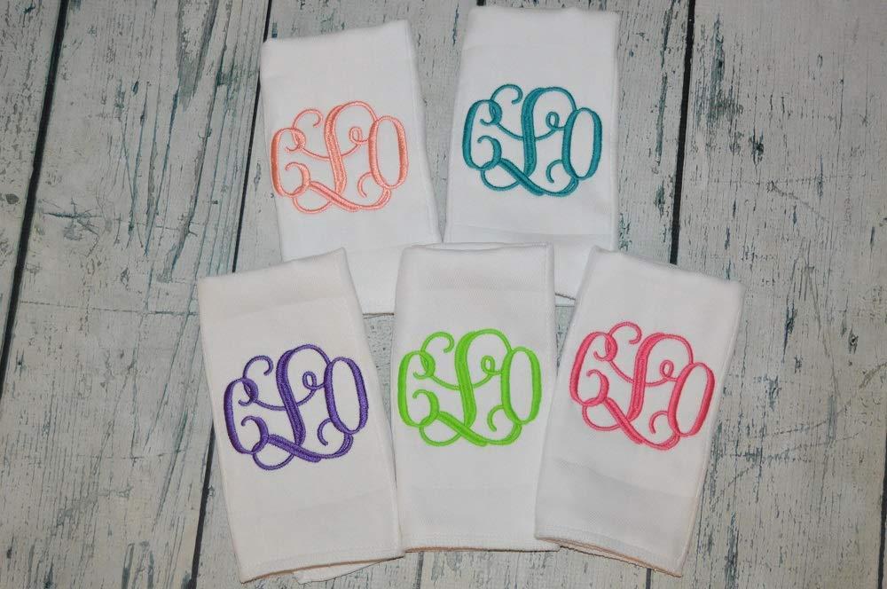 Monogram set of Selling rankings 5 baby burp Cloths Low price y in Personalized burpcloths