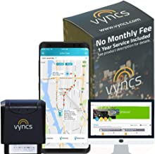 GPS Tracker Vyncs No Monthly Fee OBD Real Time 3G Car GPS Tracking Trips Free 1 Year Data Plan, Teen Unsafe Driving Alert, Engine Data Fleet Monitoring Fuel Report Optional Roadside Assistance
