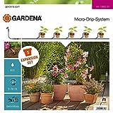 Gardena 13005-20 Sistema de riego amplía suSet de Inicio M Micro-Drip con 5 macetas más, Set extensión de terraza y balcón
