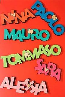 Nome in legno colorato per cameretta bambini