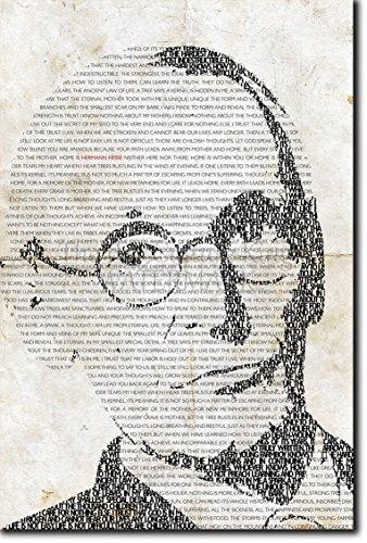 TPCK Hermann Hesse Kunstdruck - einmaliges typografisches Design - Hochglanz Fotodruck Poster - Maße: 30 x 20 cm