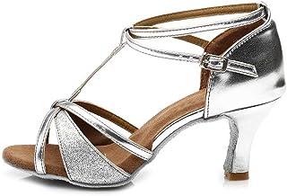 SWDZM - Chaussures de danse latine pour femme en satin D255