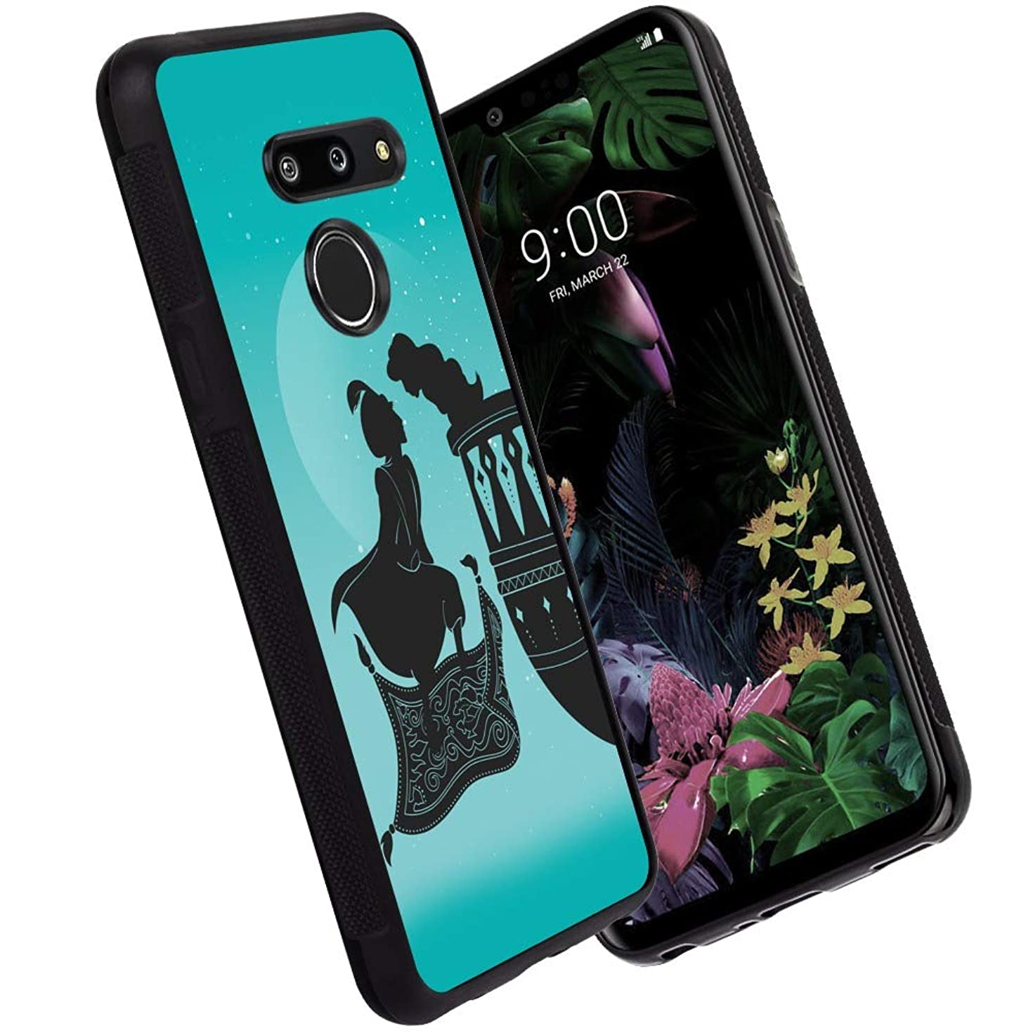 DISNEY COLLECTION Phone Case Compatible LG G8 Aladdin'S Lamp Reinforced Drop Protection Hard PC Back Flexible TPU Bumper Protective Case for LG G8