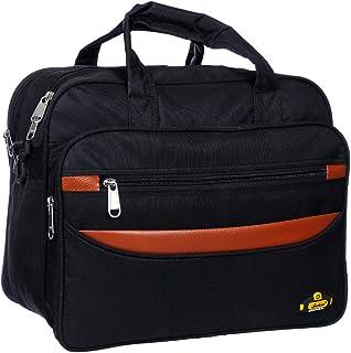 Black Mirror Men's Messenger Bag (Black, Tan)